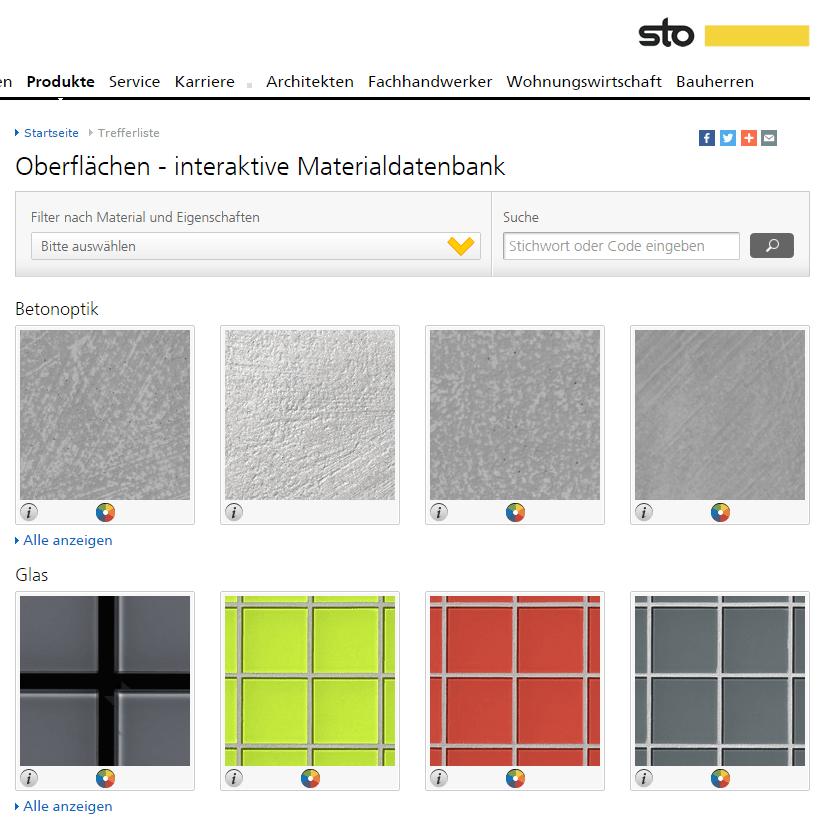 Sto Viewer, Caparol Spectrum Express, Bruillux Farbdesigner