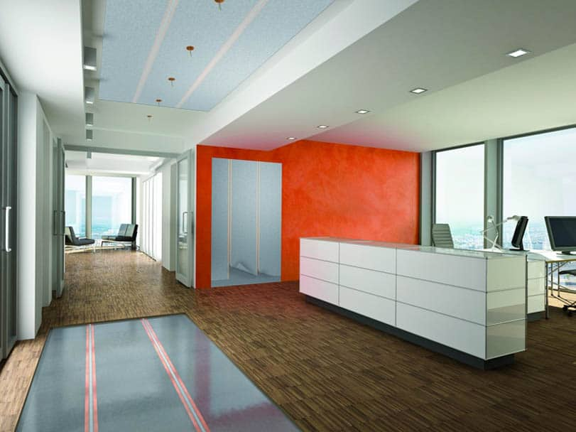 Flächenheizung an Wand, Boden und Decke einsetzbar