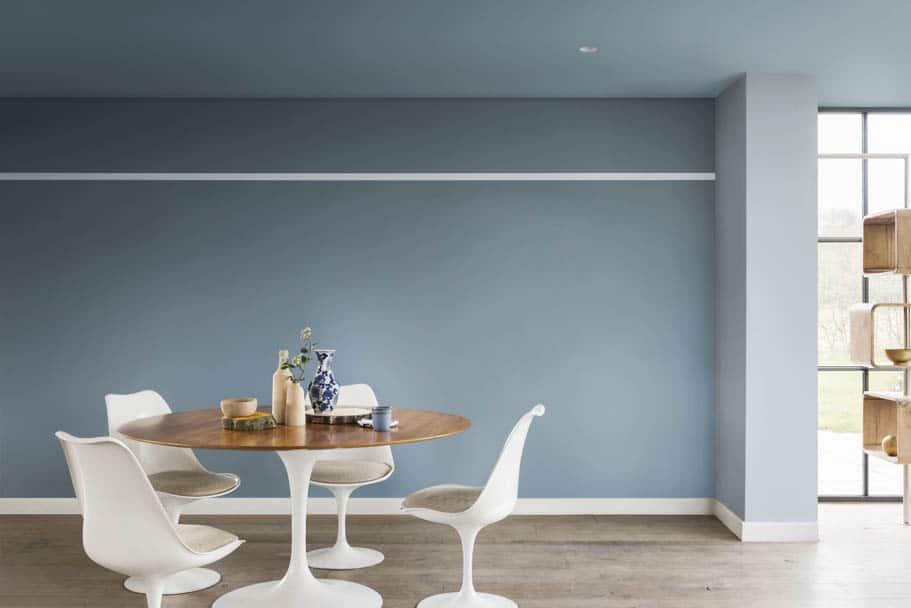 Farbe des Jahres 2017 - Esszimmer mit blauer Wand