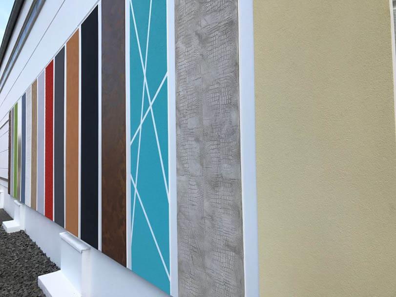 Ausstellungsmuster bei Hofele Stuckateur und Maler Süssen