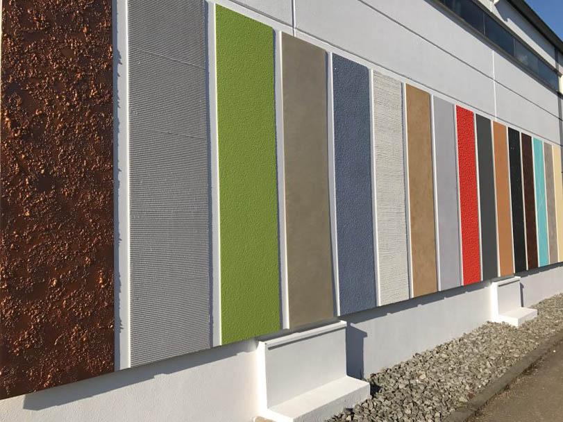 Outdoor-Showroom von Hofele Stuckateur und Maler in Süssen im Postweg 39