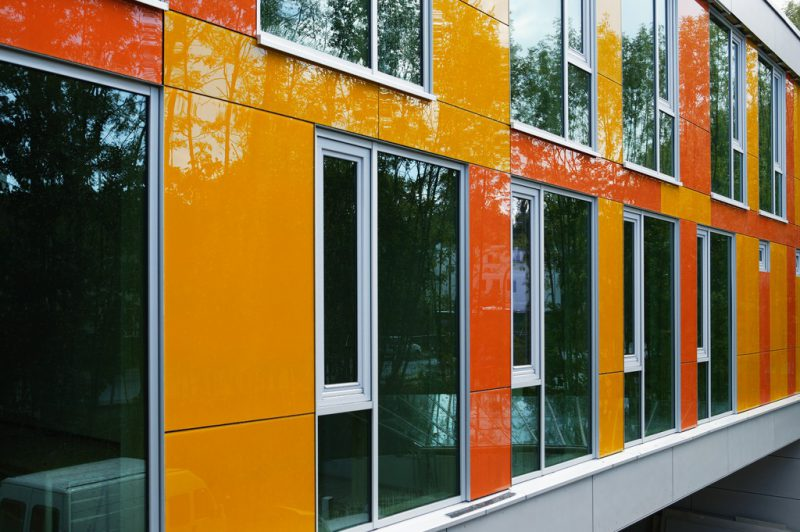 Fassade in der Farbe gelb orange - Hofele Stuckateur und Maler Süssen, Kreis Göppingen