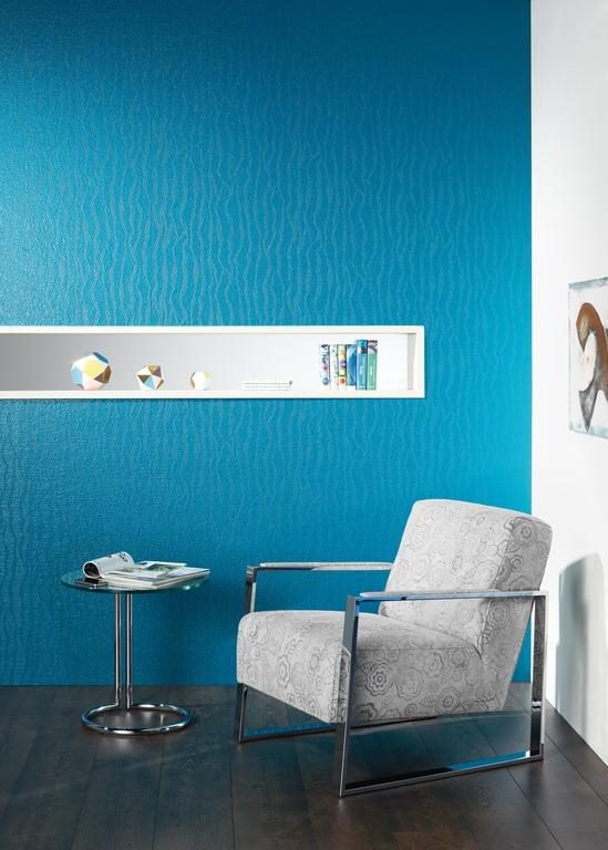 Wand in Farbe türkisblau - Hofele Stuckateur und Maler Süssen, Kreis Göppingen