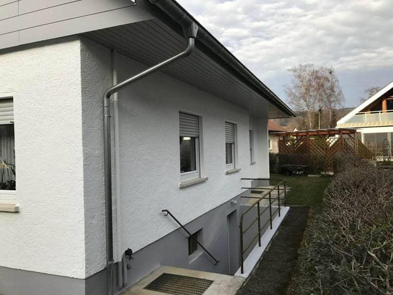 neue gestrichen Fassade